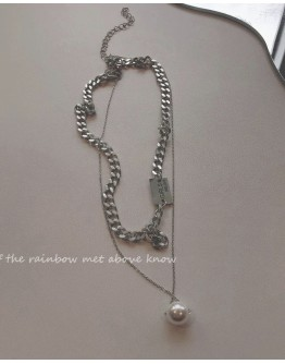 FAUX PEARL CHAIN NECKLACE + FREE SHIPPING