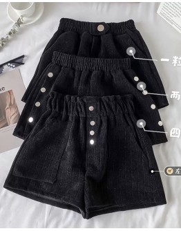 12.12 LADIES THICK BUTTON PATTERN SHORTS + FREE SHIPPING