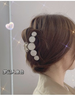 FREE SHIPPING FAUX STONE ROUND HAIRPINS