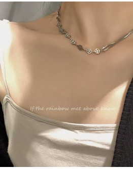 11.11 TITANIUM STEEL SMILE NECKLACE OR BRACELET + FREE SHIPPING