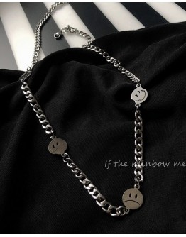 TITANIUM STEEL SMILE CHAIN NECKLACE + FREE SHIPPING