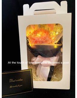【V】VALENTINE DRIED HYDRANGEA HEART LED GIFT BOX