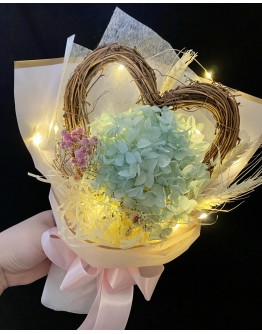 【V】VALENTINE DRIED BIGGER HEART LED GIFT BOX