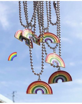 11.11 UNISEX TITANIUM STEEL CHAIN RAINBOW NECKLACE