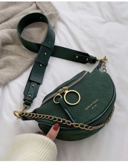 FAUX LEATHER CHIAN CROSSBODY