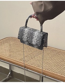 FREE SHIPPING CHAIN FAUX LEATHER MINI CROSSBODY BAGS