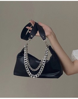 FREE SHIPPING LAYRED CHAIN FAUX LEATHER HANDBAGS