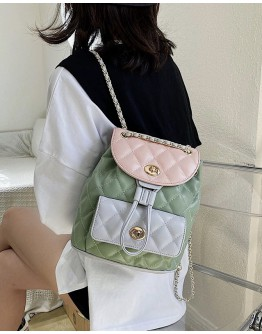 FREE SHIPPING FAUX LEATHER CHAIN BACKPACK