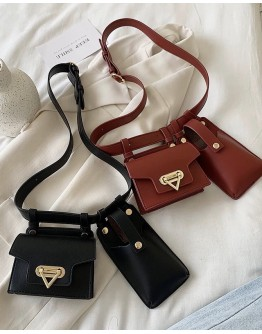 FREE SHIPPING FAUX LEATHER MINI WAIST BAGS