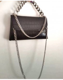 FREE SHIPPING FAUX LEATHER CHAIN MINI CROSSBODY