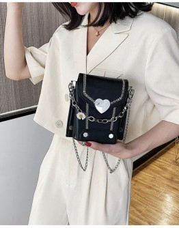 【LIMITED】FREE SHIPPING FAUX LEATHER FLOWER CHIAN CROSSBODY