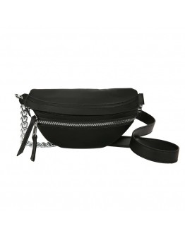 FREE SHIPPING FAUX LEATHER CHAIN ZIPPER WAIST-BAGS