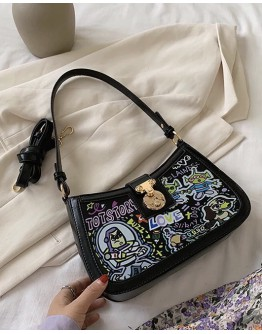 FREE SHIPPING TOYS STORY PATTERN ZIPPER SHOULDER BAGS