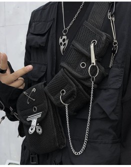 FREE SHIPPING UNISEX CHAIN PINS MINI CROSSBODY