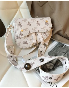 FREE SHIPPING LADIES HORSE PATTERED CROSSBODY