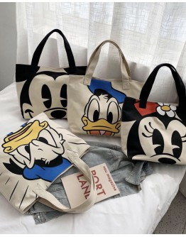 FREE SHIPPING CANVAS MICKEY DONALD DUCK HANDBAGS