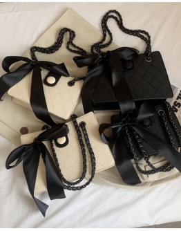 CHAIN RIBBON HANDBAGS