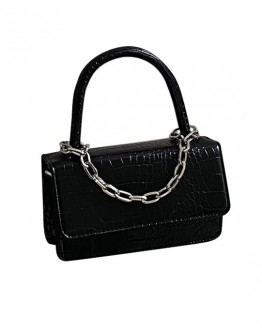 FREE SHIPPING FAUX CROC LEATHER CHAIN CROSSBODY BAGS