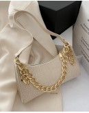 【GS】FREE SHIPPING FAUX LEATHER CHAIN SQUARE MINI HANDBAGS