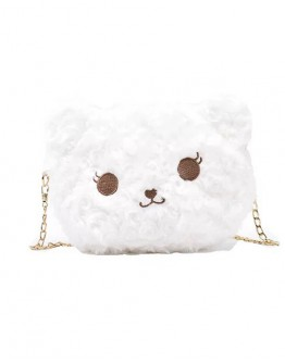 【GS】FREE SHIPPING BEAR PATTERN CHAIN CROSSBODY