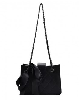 【GS】FREE SHIPPING FAUX LEATHER BOWKNOT CHAIN HANDBAGS