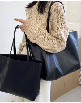 【GS】FREE SHIPPING FAUX LEATHER HAND BAGS ( BIG )