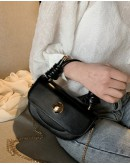 【GS】FREE SHIPPING FAUX LEATHER CHAIN MINI CORSSBODY