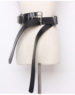 FREE SHIPPING LADIES METAL DOUBLE PATTERNED BELT