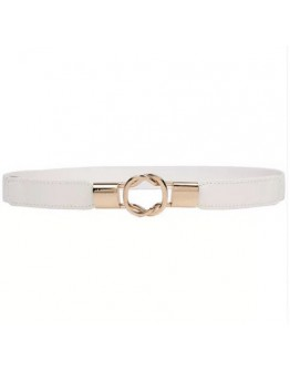FREE SHIPPING LADIES METAL FAUX LEATHER BELT