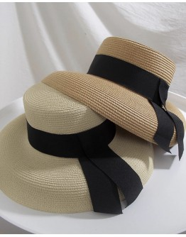 FREE SHIPPING RIBBON STRAW HAT
