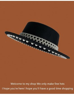 FREE SHIPPING FAUX PEARL HAT