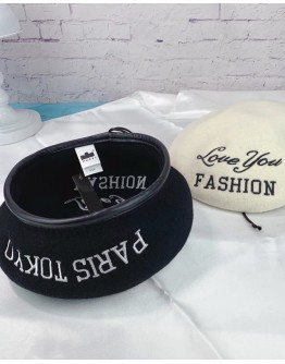 FREE SHIPPING UNISEX LOVE YOU EMBRODIER WOOLEN BERET