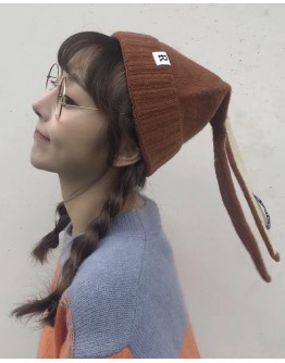 FREE SHIPPING LADIES RABBITS EAR PATTERED KNITTED HATS