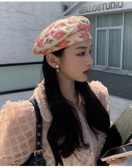 FREE SHIPPING EMBROIDER FLORA BERET