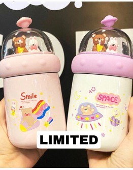 【CHRISTMAS LIMITED】FREE SHIPPING BEAR RABBIT PATTERN THERMOS BOTTLE 350ML