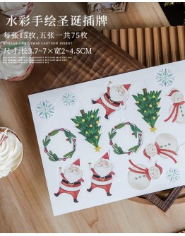 FREE SHIPPING CHRISTMAS CARTOON MINI CAKE DECORATION ACCESSORIES 75 PIECES