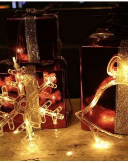 FREE SHIPPING CHRISTMAS LAMP 5 IN 1 SET + FREE BATTERY