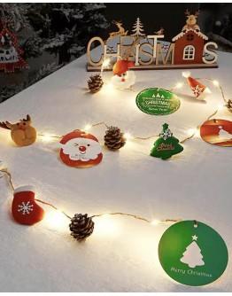 FREE SHIPPING CHRISTMAS SANTA CLAUS LAMP 20 BULB 2M