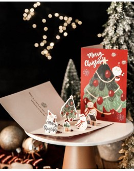 FREE SHIPPING CHRISTMAS GIFT CARD 10 PIECES