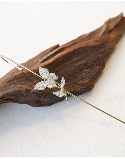 【GS】FREE SHIPPING BUTTERFLY GEM EARRING ( ONE ONLY )