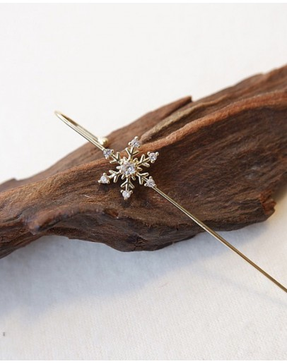 【GS】FREE SHIPPING SNOW METAL EARRING ( ONE ONLY )