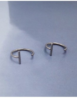 LADIES STAINLESS LIP RINGS FOR 2
