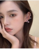 FREE SHIPPING RHINESTONE METAIL RIBBON EARRING ( ONLY ONLY )