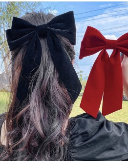 FAUX SUEDE BOWKNOT HAIRPIN