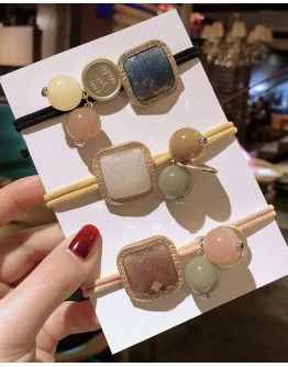 【ONLY FOR AGENT】FAUX STONE MIX HAIRRINGS