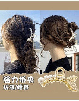 【ONLY FOR AGENT】RHINESTONE PATTERN CHAIN HAIRPINS