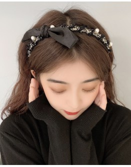 【ONLY FOR AGENT】FAUX PEARL RIBBON HAIRBAND