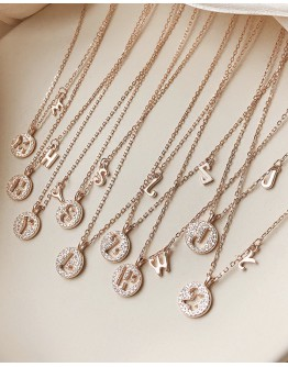 FREE SHIPPING 925 SILVERY TEXT RHINESTONE NECKLACE