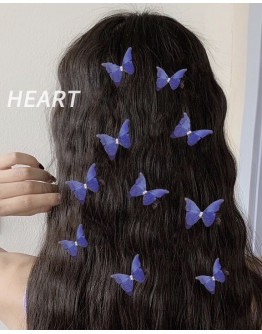 FREE SHIPPING GRENADINE BUTTERFLY 10 IN 1 SET HAIRPINS