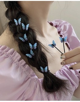 FREE SHIPPING BUTTERFLY 10 HAIRPINS IN 1 SET